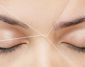 eyebrow threading at the fab salon