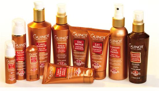 guinot sun care range