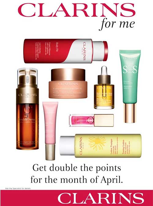 April Clarins points offer