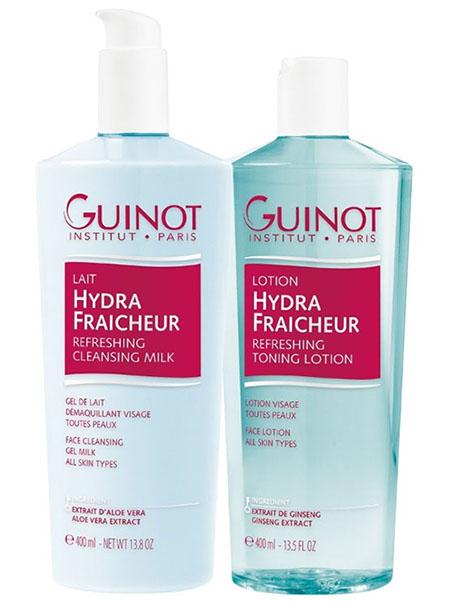 Double Size Guinot Lait Hydra Fraicheur Cleansing Milk & Hydra Fraicheur Toning Lotion